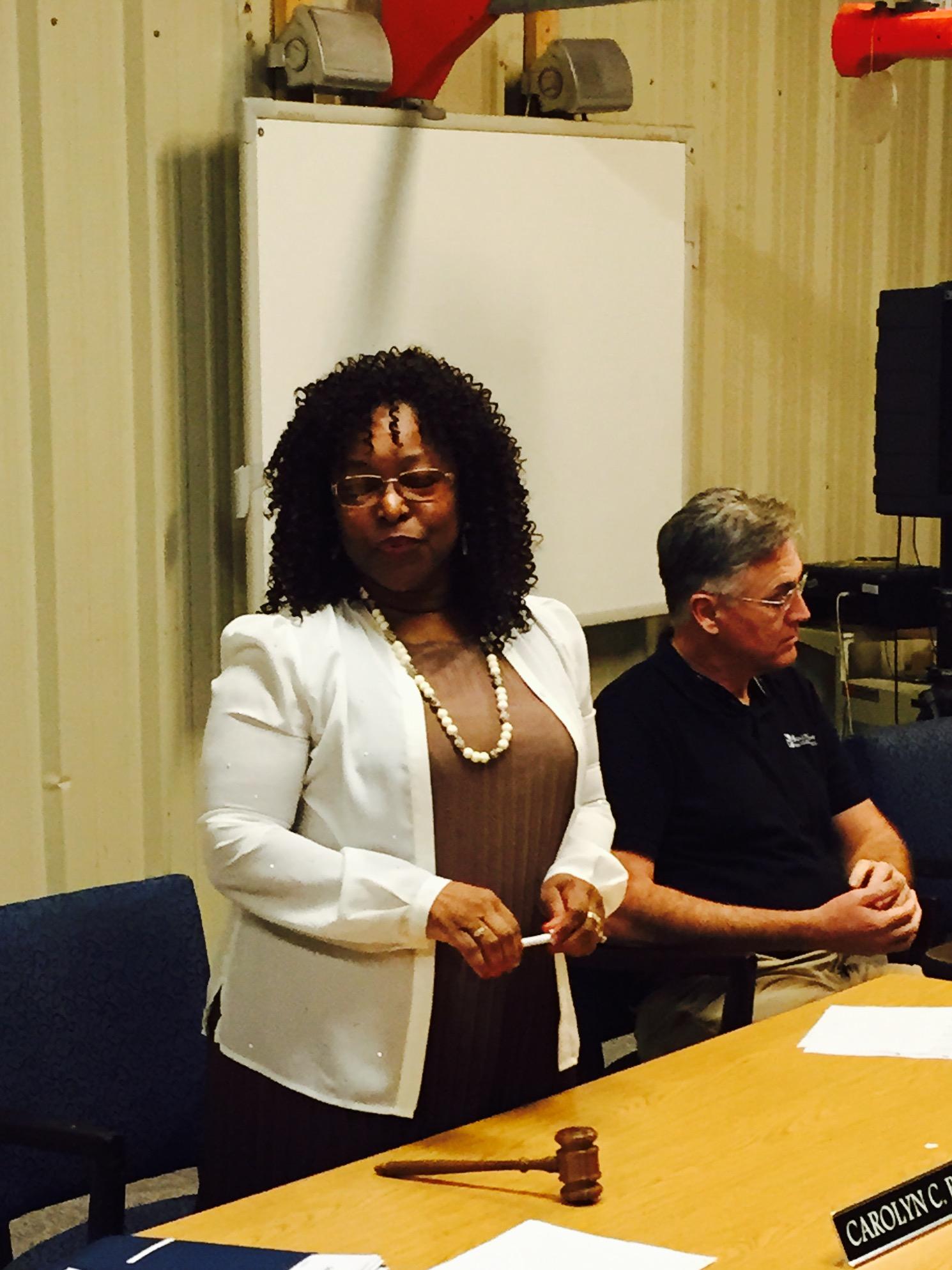 Board President Carolyn Bates